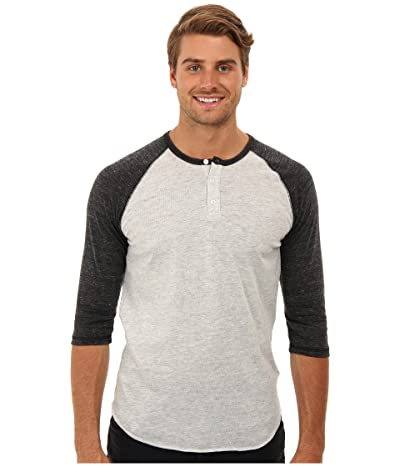 Alternative 3/4 Raglan Henley (Eco Oatmeal/Eco Black) Men