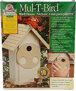 Blitz MUL-T-BIRD Bird House Adjust to fit 10 different Species USA Made Sturdy Plastic