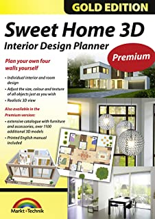 Sweet Home 3D Edition - Interior Design Planner with an additional 1100 3D models and a printed manual, ideal for architects and planners - for Windows 10-8-7-Vista-XP & MAC