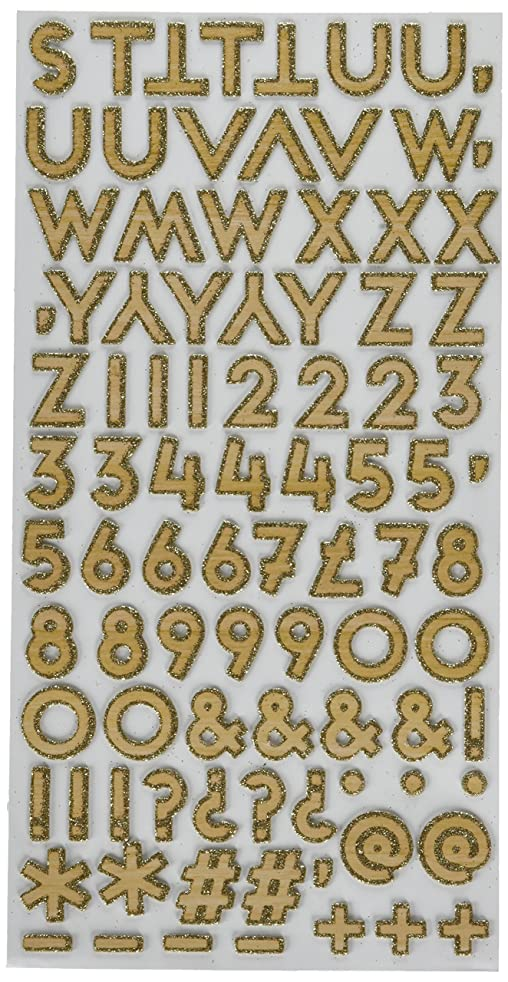 American Crafts Shimelle Girl 176 Piece Gold Glitter Thickers