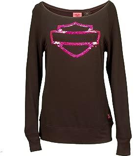 Harley-Davidson Women's Pink Label Pullover Sweatshirt 99112-15VW