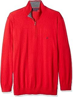 Men's Big and Tall Half-Zip Mock Neck Sweater