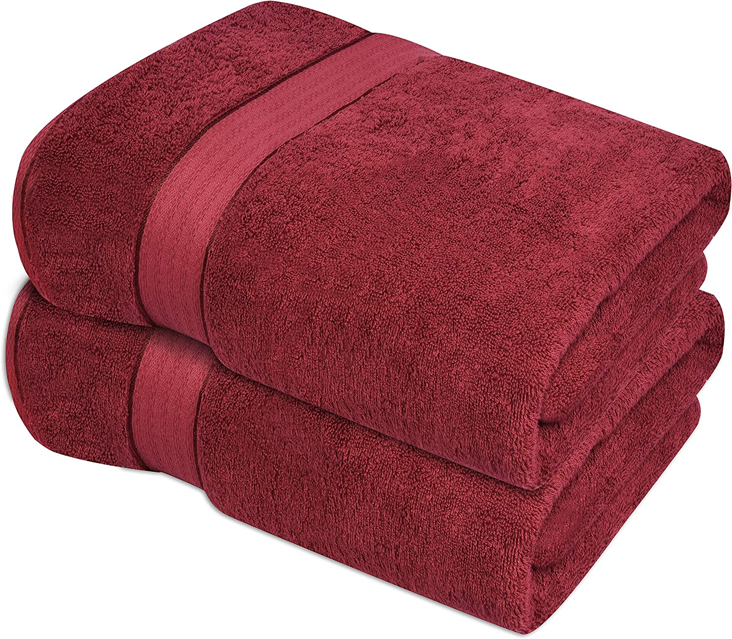 Luxury Hotel /& Spa Quality Durable Ultra Soft Highly Absorbent Burgundy GLAMBURG 700 GSM Premium Oversized Extra Large Cotton Bath Sheet 35x70-100/% Combed Cotton