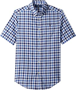 Plaid Performance Oxford Shirt (Big Kids)