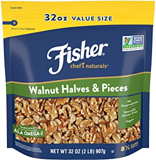 Fisher Chef's Naturals Walnut and Pieces, 32 Ounce
