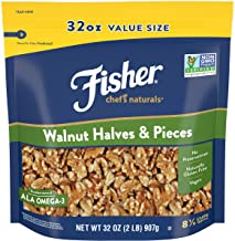 FISHER Chef's Naturals Walnut Halves & Pieces, 32 oz, Naturally Gluten Free, No..