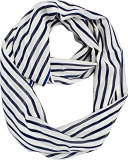 Sassy Stripes Vintage Style Multi Color Light Infinity Loop Scarf