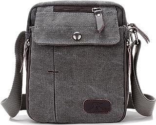 1bd58772702e Vintage Canvas Small Messenger Bag Classic Multi-pocket Mini Shoulder  Crossbody Bags Travel Purse