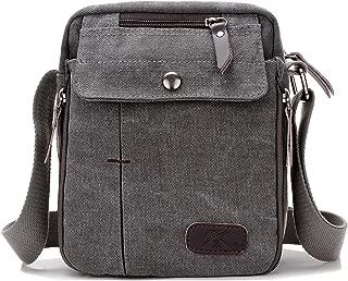 Heavy-Duty Vintage Canvas Small Messenger Bag Classic Multifunctional Multi-pocket Mini Shoulder Crossbody Bags Travel Purse
