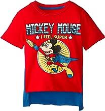 Disney Boys' Mickey Mouse Super Short Sleeve Cape T-Shirt