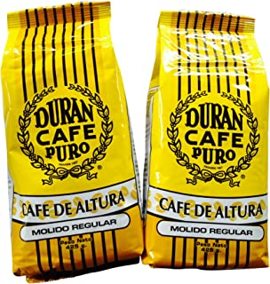 Best Panama Coffee Cafe Duran Cafe De Altura Molido Regular 1 Pound Freshly Imported Best Quality Coffee From the Highlands of Chiriqui (Boquete) 2-Pack