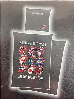 JJZHY Le Rolling Stones Band Housse de Coussin Coton et Lin Housse de Coussin Canap/é 45 45cm