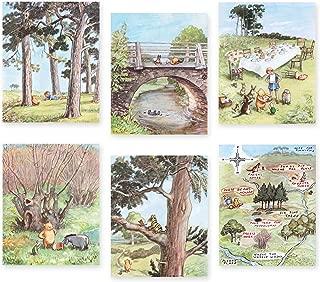 "Classic Winnie the Pooh Art (Boys Prints, Baby Girls Nursery Wall Decor) ""Winnie's Forest"" - 8x10 Unframed, Set of 6"