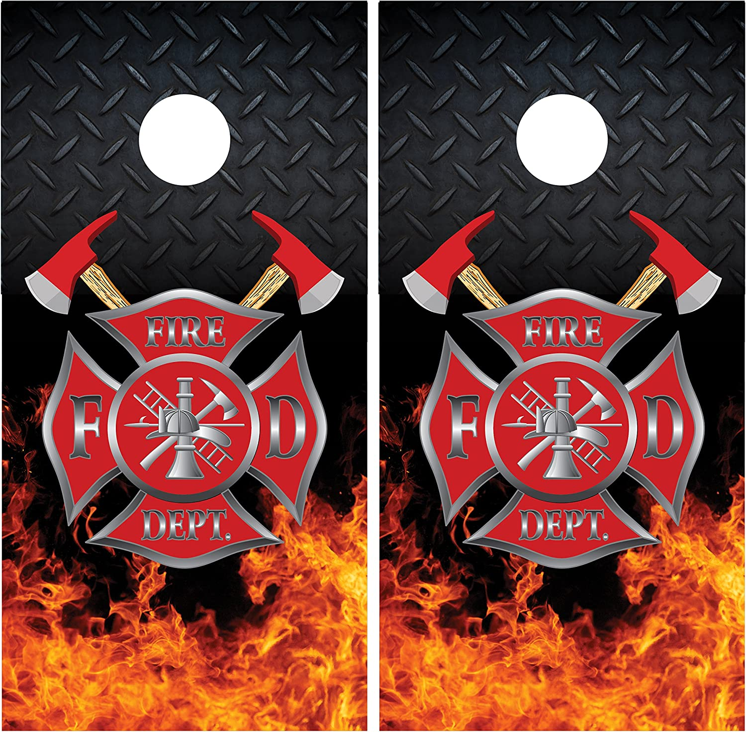 Miller Graphics Firefighter Industry No. 1 Emblem Diamond Flames Plate Lam Fire Max 71% OFF