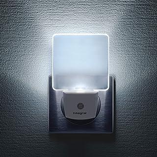 Pack de 2 veilleuses LED Integral, à brancher sur les murs, avec cellule photoélectrique crépusculaire, éclairage de nuit ...