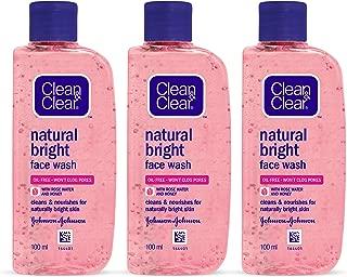 Clean & Clear Natural Bright Facewash, 100ml (Pack of 3)