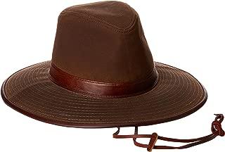 Dorfman Pacific Men's Oil Cloth Safari Hat With Leather Trim