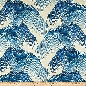 Tommy Bahama Outdoor Palmas Fabric, Azul, Fabric By The Yard