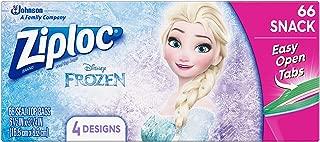 Ziploc Brand Snack Bags Featuring Disney Frozen Designs, 66 ct