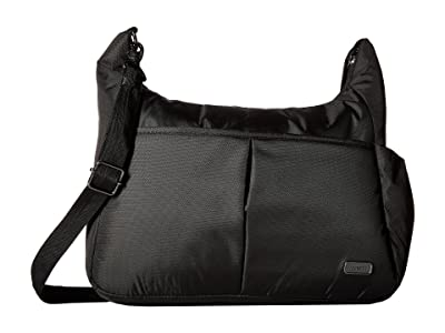 Pacsafe Daysafe Anti-Theft Crossbody Bag (Black) Cross Body Handbags
