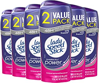 Lady Speed Stick Antiperspirant Deodorant, Power, Freesia - 2.3oz - 6 Twin packs