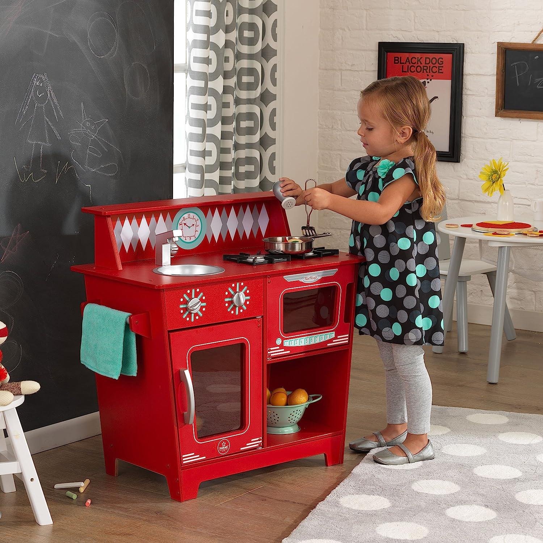 Amazon Com Kidkraft Kids Kitchen Playset Red Toys Games