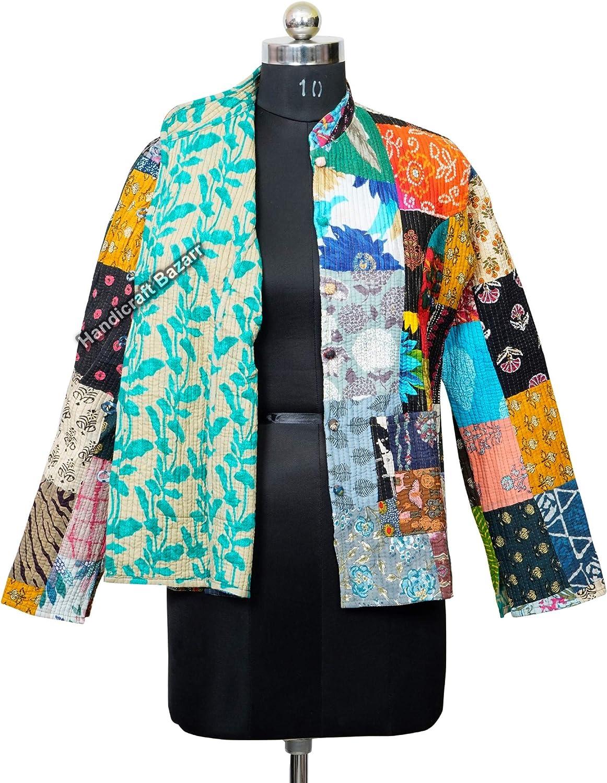 Handicraft Bazarr Classic service Patchwork Waistcoat Housecoat A Vintage Pocket