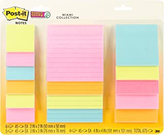 3M Miami -Post-It Super Notes Sticky Note (4423-15SSMIA)