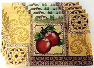 apple shaped placemats