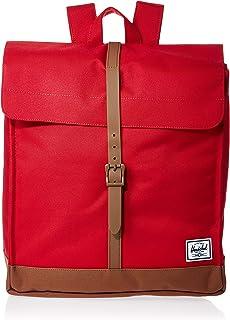 Herschel 10486-03271-OS City Backpack, Red/Saddle Brown, Mid-Volume 14.0L