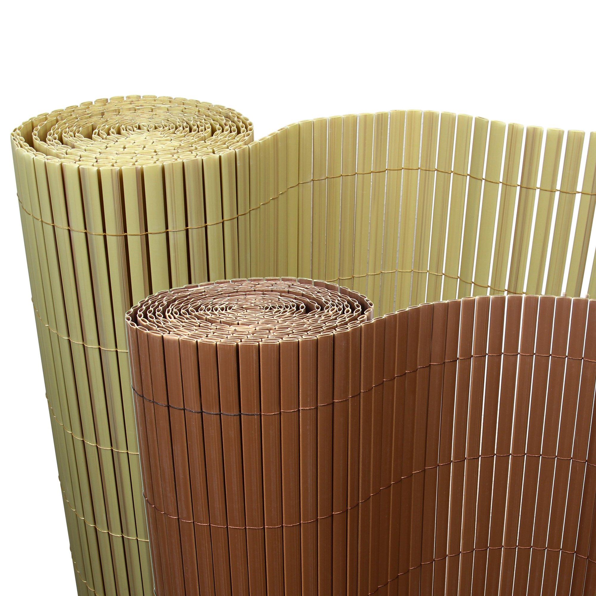 Amazon De Rapid Teck 5 M Pvc Bambus Sichtschutzmatte 100cm X