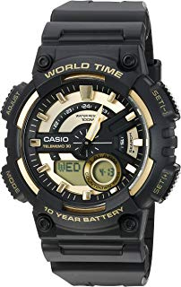 Casio Men's Sports Quartz Watch with Resin Strap, Gold,...