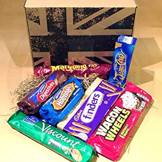The British Favourite Chocolate Biscuit Collection Gift Box - Top 7 Best Selling Chocolate Biscuits – Maryland Cookies Choc Chip, Mcvitie's Milk Chocolate Digestives, Milk Choc Hobnobs, Jaffa Cakes, C