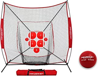 PowerNet Pitch Perfect Targets, Practice Net and Strike Zone Attachment Bundle | Baseball Softball Pitching Trainer | 3 Size Target Set | Increase Pitching Throwing Accuracy Location | Strike Training