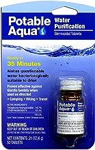 درمان آب تصفیه آب قابل برنامه ریزی (50 قرص) - تصفیه آب قابل حمل ایده آل برای موارد اضطراری، بقا، مسافرت و کمپینگ