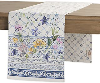 Maison d' Hermine Faïence 100% Cotton Table Runner 14.5 - Inch by 108 - Inch