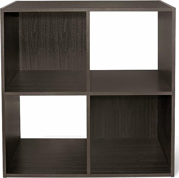 CAP LIVING 4 6 8 Cube Room Organizer Shelf Storage Divider 2 X 2 2 X 3 2 X 4 Bookcase Colors Available In Espresso And White Espresso 4 Cube