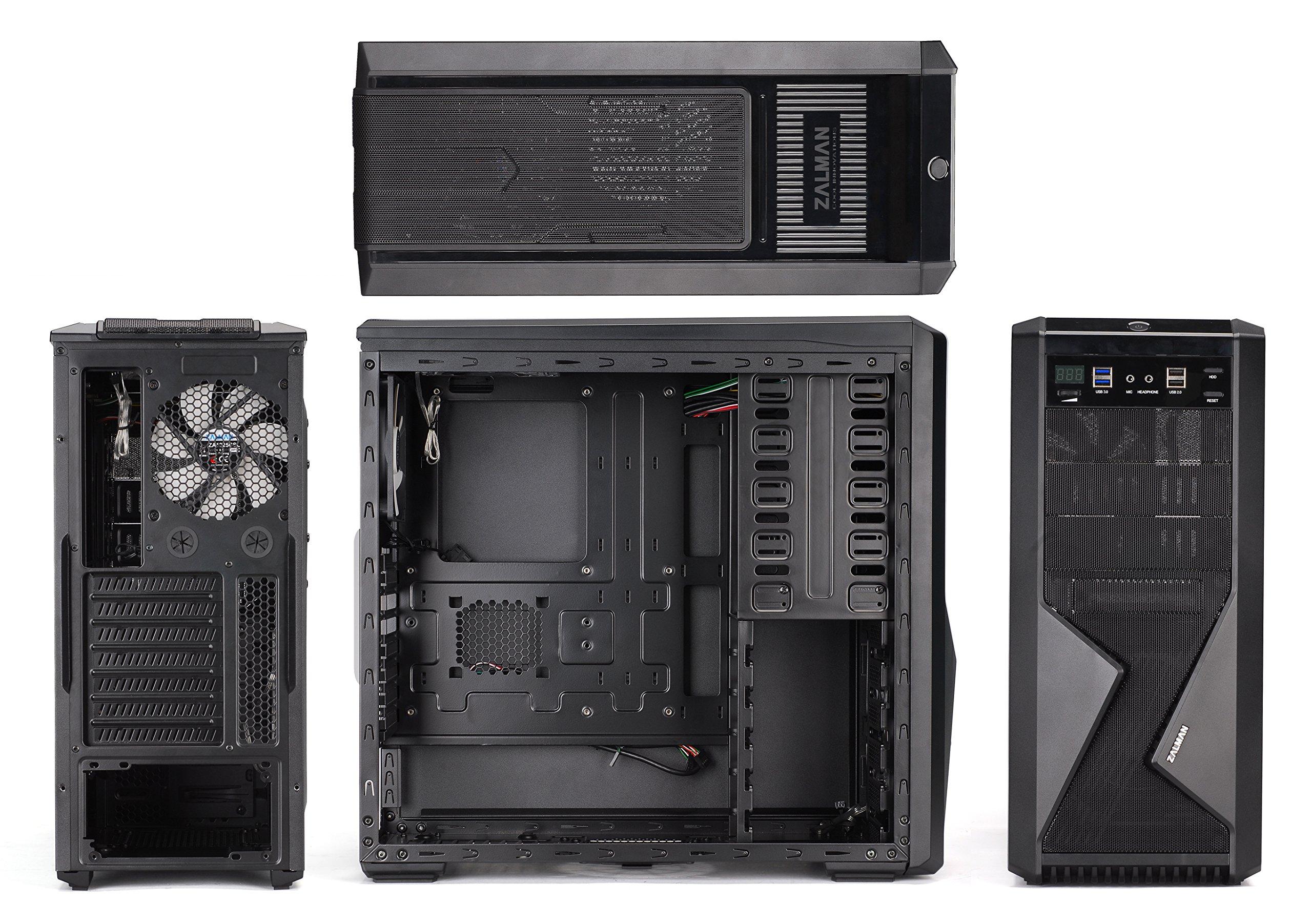 Zalman Z9 U3 Midi Tower - Caja de Ordenador (Placa Base ATX, 3 bahías externas de 5,25