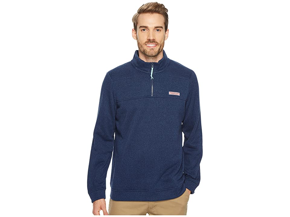 Vineyard Vines Sweater Fleece Shep Shirt (Deep Bay) Men