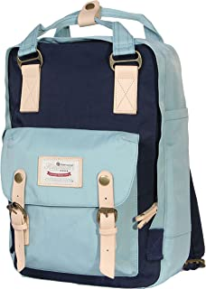 Himawari Multifunctional Backpack Fits 13-inch Laptop (Mint & Dark blue)