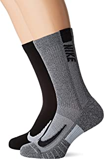 Nike Australia Unisex Multiplier Crew Socks (2 Pair), Multi-Color, L
