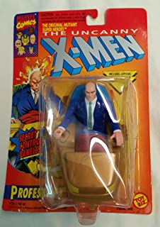 ToyBiz Year 1993 Marvel Comics The Original Mutant Super Heroes Series The Uncanny X-Men 4-1/2 Inch Tall Action Figure - Professor X (Xavier) with Hover Unit and Flip Up Computer Panels Plus Bonus Official Marvel Universe Trading Card