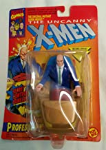 ToyBiz Year 1993 Marvel Comics The Original Mutant Super Heroes Series The Uncanny X-Men 4-1/2 Inch Tall Action Figure - Professor X (Xavier) with Hover Unit and Flip Up Computer Panels Plus Bonus Official Marvel Universe Trading Card by Marvel Comics