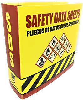 SDS Ring Binder, Bilingual with English/Spanish, Heavy Duty, 3 Inch Capacity Holds 600 Pages