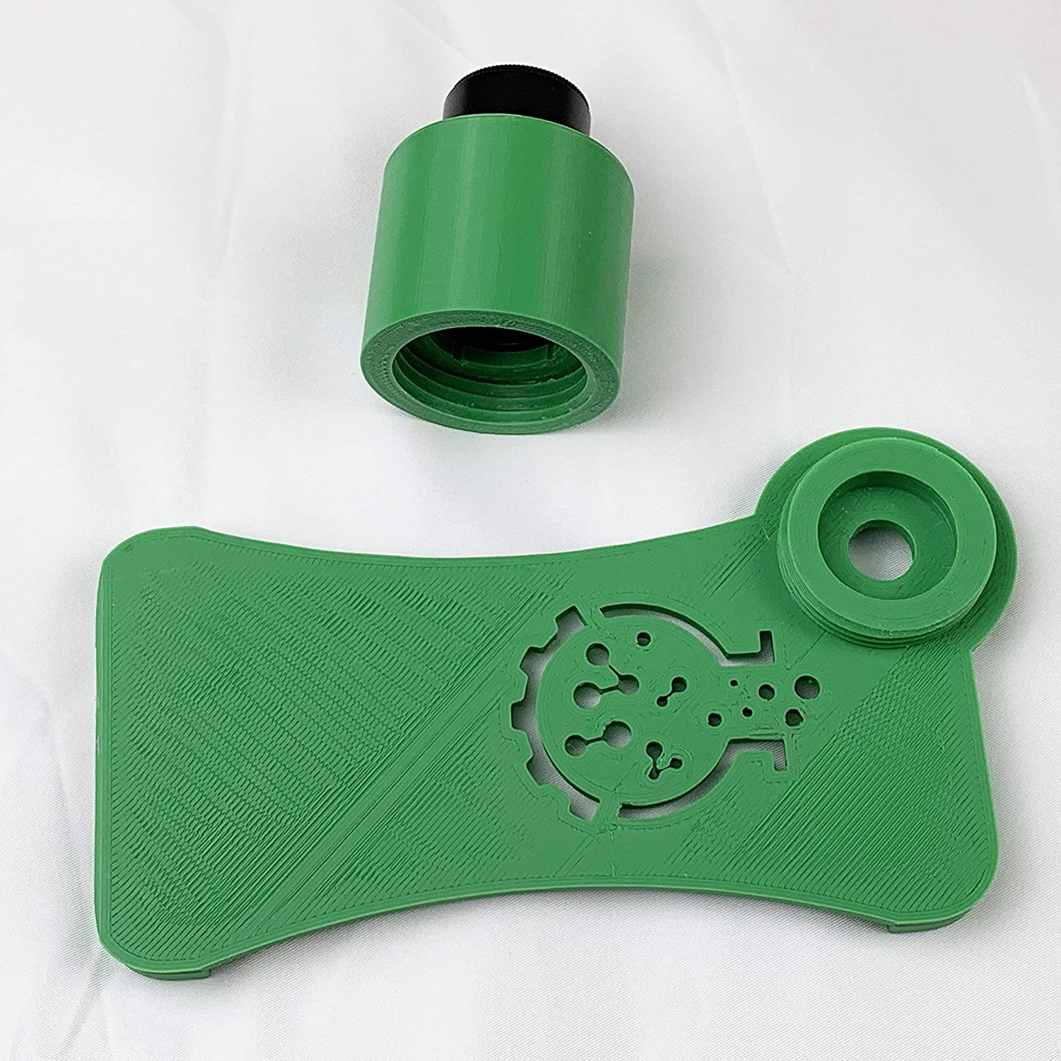 LaBOT Microscope iPhone Camera Adapter iPhone XR, Green Case only, Without Lens