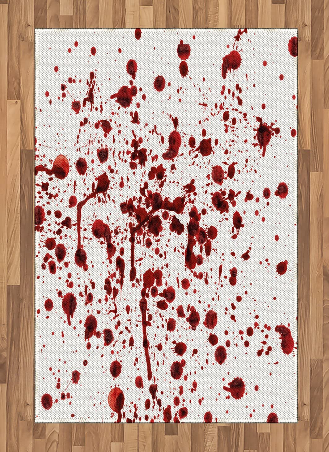 In stock Ambesonne Horror Area Rug Splashes Ranking TOP1 Blood of Grunge Bloods Style