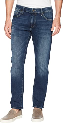 Mavi Jeans Marcus Regular Rise Slim Straight Leg in Dark Blue Williamsburg