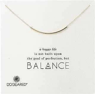 Balance Tube Bar Necklace, 16