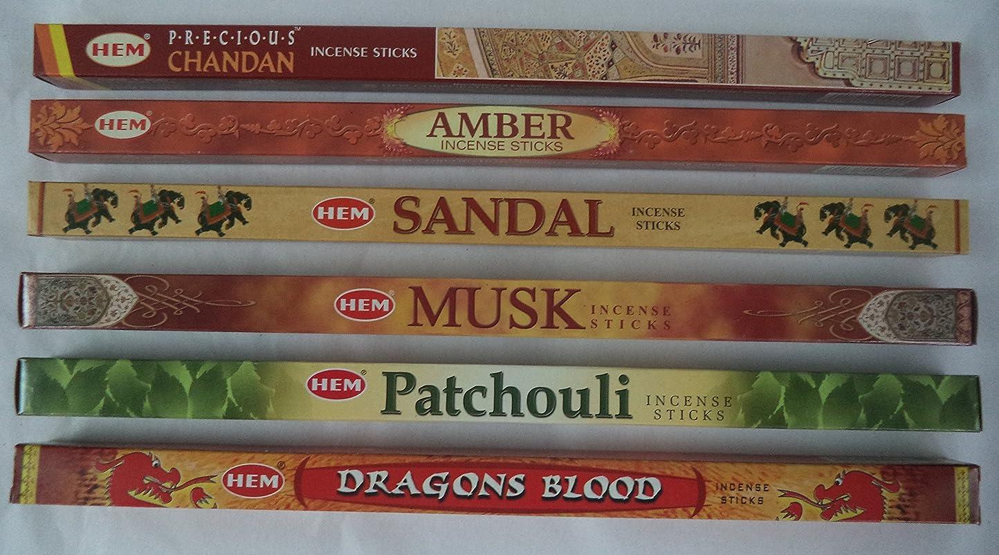 シーボード見せます引き出すHemお香Best Sellerセット: 6ボックス# 3?x 8スティック、合計48?Sticks
