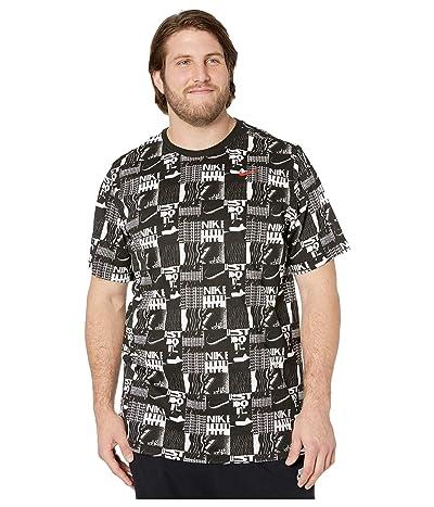 Nike Big Tall Dry Tee Dri-FIT Cotton All Over Print (Black) Men